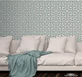 SD Stencil Graeca, plantilla decorativa reusable para pintar con efecto papel tapiz