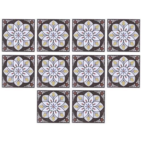 Yosoo123 20 Piezas Autoadhesivo azulejo Diagonal Pegatina Suelo de baldosas Pegatinas de Pared calcomanías de Suelo Dormitorio decoración de Pascua