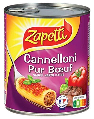 Zapetti Reines Beef Cannelloni neapolitanischen Sauce 800G (6er-Set)