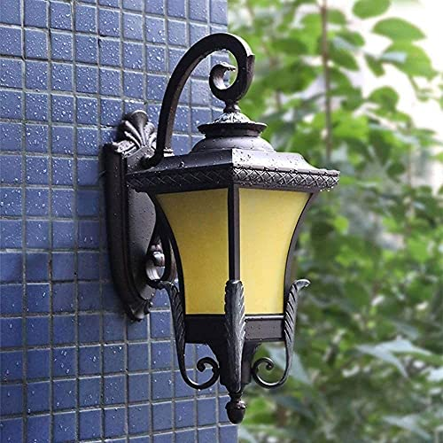 Lámpara de pared Phoenix de cuatro lados de estilo europeo Luces de pared europeas para exteriores Aplique de pared impermeable al aire libre E27 Entrada exterior Parque Villa Patio Co