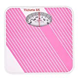 Generic CROWN Victoria Deluxe Personal Weighing Scale For Human Body, Mechanical Manual Analog Weighing Scale upto 130 kgs capacity (Pink)