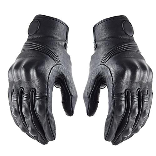 Fietsenhandschoenen, Lederen Moto Rijhandschoen Touch Screen Fietsen Handschoenen Winddicht Voor Voetbal, Rugby, Running…