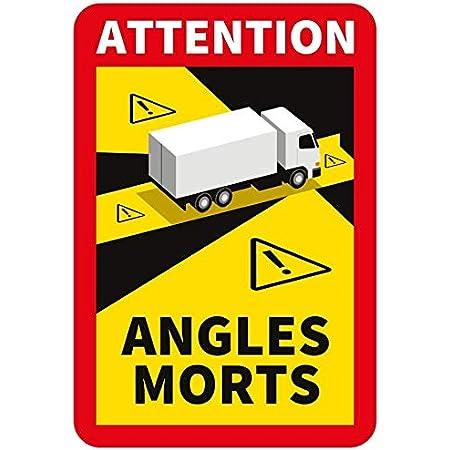 Schilder Magnetschilder Hinweisschild Angles Morts Für Frankreich Lkw Bus Toter Winkel Aufkleber 250 X 170 Mm 3 Stück Bürobedarf Schreibwaren