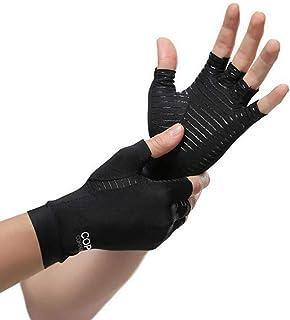 Benrise Gaming Handschoenen Siliconen Grip Anti-Slip Anti-Sweat Stoma Ademend Ontwerp Perfect Comfortabele Fitting, Anti Arthritis Vingerloze Koper Compressie Therapie Handschoenen S