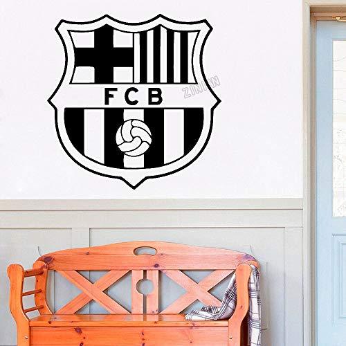 Fútbol Deportes Fútbol FC Barcelona FCB Club Logo Sign Badge Messi Griezmann Etiqueta de la pared Etiqueta engomada del coche Calcomanía de vinilo Boy Fans Dormitorio Sala de estar Club Deco