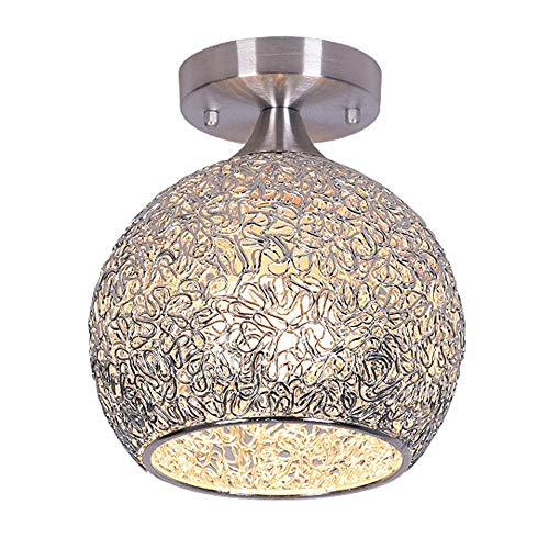 XCY Útil lámpara de techo decorativa de aluminio, mini techo en vestidor/pasillo y sala de estar lámpara de techo (diseño: A-18 cm), B-15 cm, B-15 cm