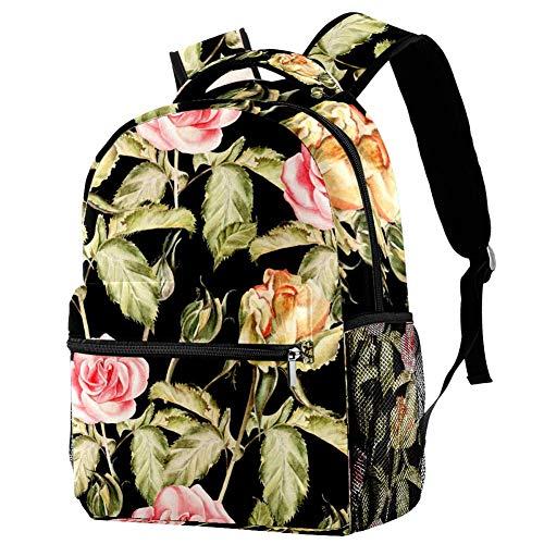 Art Flower Paint Mochila para adolescentes escolares libros de viaje casual mochila Multicolor 01 29.4x20x40cm/11.5x8x16 in