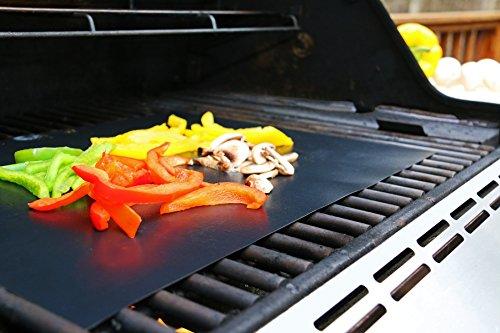 Grill Barbeque-Matten / Grillmatten für Gas-BBQ Grill / Kohle / Elektro | Bestes Grillzubehör von SuJeo | Für Steak / Burger / Hot Dogs / Gemüse | Grillen im Freien und drinnen Grillmatten sicher für Kinder