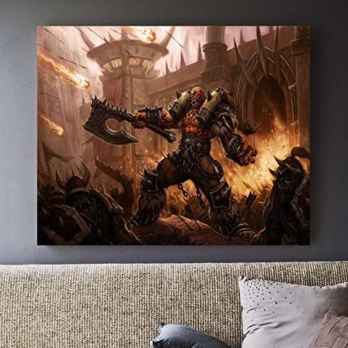 DIY Pintar por números Pintura decorativa de la imagen del arte de la pintura de World of Warcraft pintar por numeros personalizado Con pincel y pintura acrílica pintura50x60cm(Sin marco)