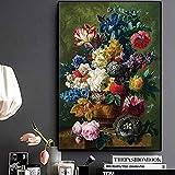 DIY Pintura Digital Sin Marco Rosas clásicas Pintura al óleo sobre Lienzo Arte Decoración del día de San Valentín Imagen de Pared nórdica 40x50cm DIY