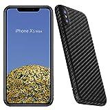 VIVERSIS Cover in Vere Fibre di Carbonio per iPhone XS Max, Ultra Sottile e Leggero, Robusto, Nero, Ricarica Wireless, qualità Premium Made in Germany.