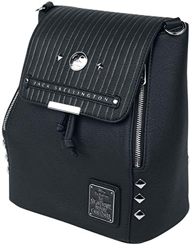 Loungefly Nightmare Before Christmas Convertible Mini Backpack, Black