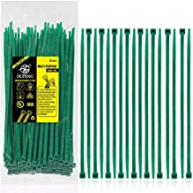 Nylon Zip Ties Heavy Duty- 8 Inch Green,Multi-Purpose Self Locking Cable Ties, Ultra Strong Plastic Wire Ties with 50 Pounds Tensile Strength, 100 Pieces.