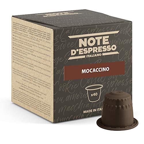 Note d'Espresso - Mochaccino - Cápsulas compatibles con Cafeteras NESPRESSO* - 40 caps