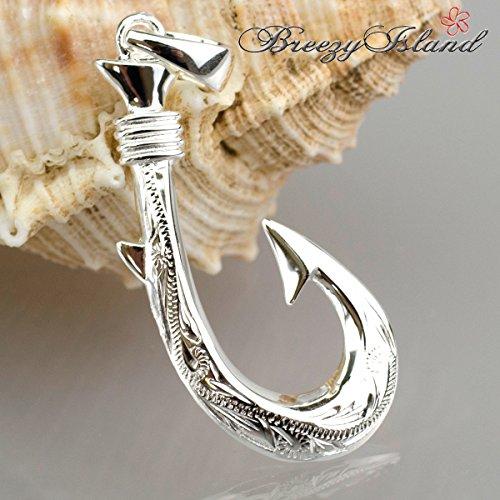 『BreezyIsland ハワイアンジュエリーペンダント 「フィッシュフック」 釣り針で幸運を逃さない Silver925』の4枚目の画像