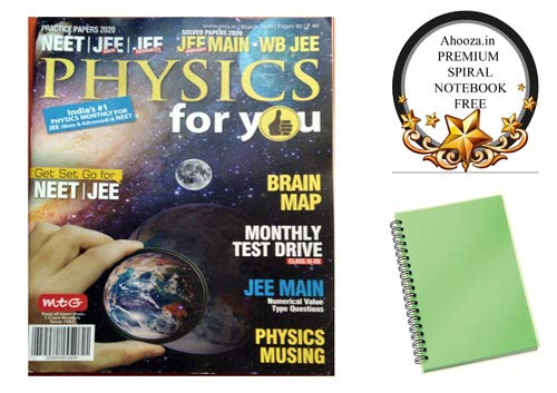 Physics for you English March 2020 Issue Magazine With Ahooza Premium Pocket Spiral Notebook
