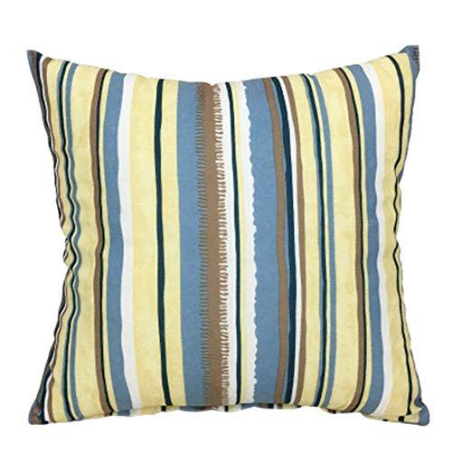 YONGYONG Coussin Rayé De Bureau D'oreiller De Voiture De Canapé De Style Simple Simple D'oreiller Mou Avec Le Noyau (Color : N)