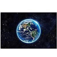 XIANRENGE ポスター 宇宙太陽系ポスターギャラクシースペーススター星雲アートキャンバス絵画プリントホームスクールの科学教育ポスター-50x70cmx1フレームなし
