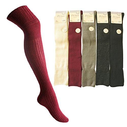Star Socks Germany 5550 Art-of-Baan 1 Paar Angora Overknee grau Größe 35-38