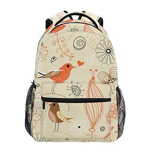 Laptop Backpack,Travel Bag for Women Man Unisex Adults Daypack School Personality Cartoon Large Bag Floral Retro Style