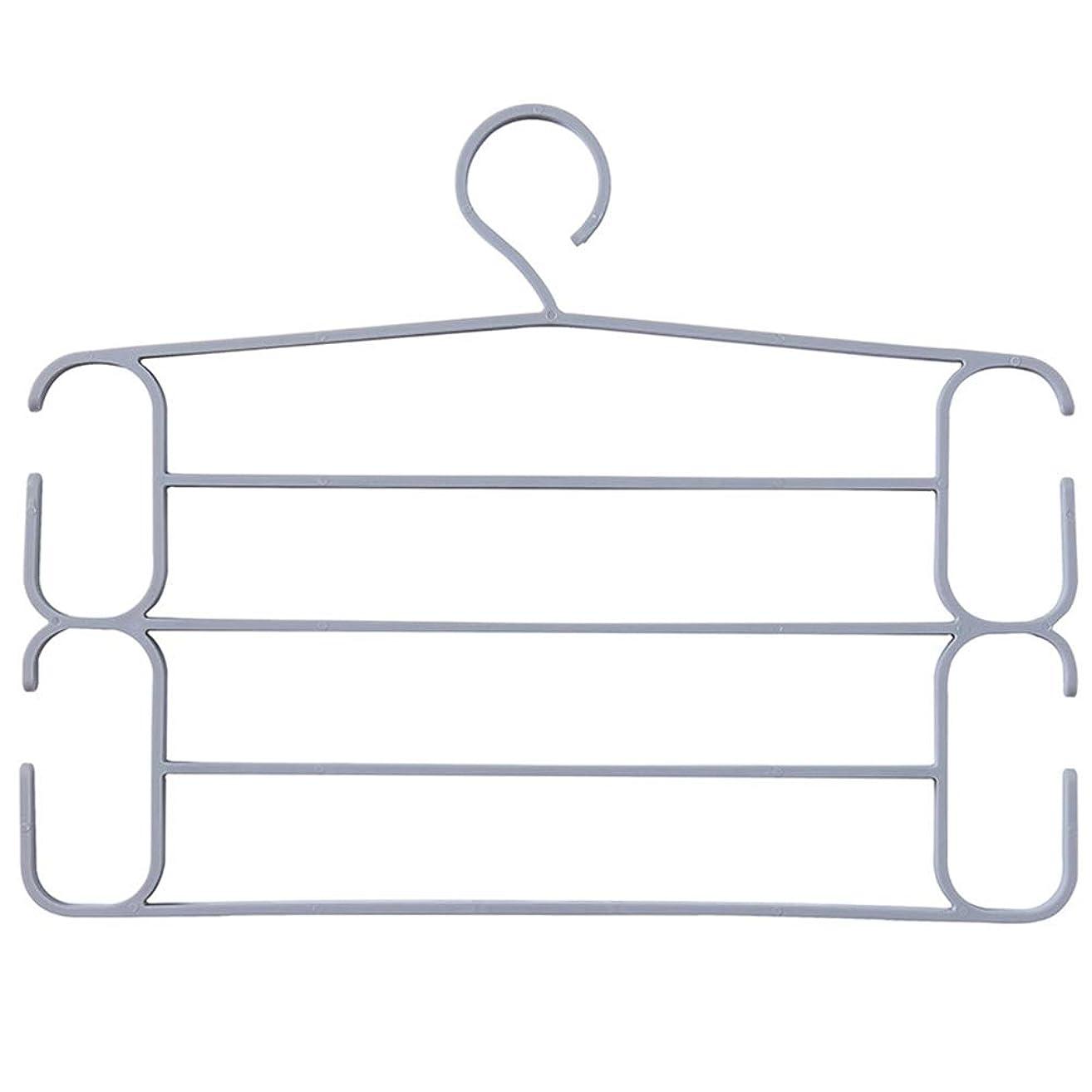 種経験者有害なスーツハンガー 服パンツハンガーマルチレイヤーパンツスラックハンガースイングアームパンツハンガークローゼット収納ズボンジーンズスカーフぶら下げ ジャケットハンガー (色 : グレー)