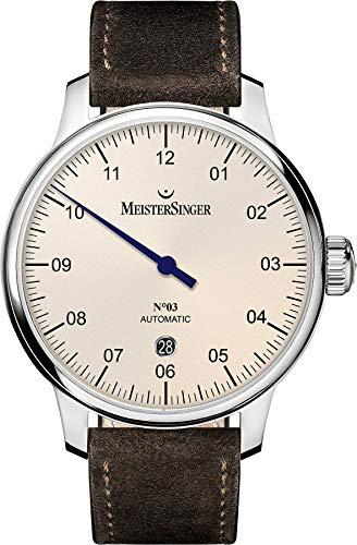 MeisterSinger N_03 AUTOMATIK DM903 Reloj con s_lo una aguja Cl_sico & sencillo