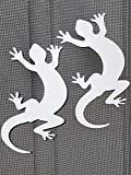 DCentral Two Geckos Flexible Screen Magnets: Double-Sided Decor; for Non-Retractable Screens, Multipurpose, Helps to Stop Walking into Screens, Covers Small tears in Screens. Size 4.2' x 7' Ea