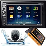 Dual Electronics XDVD276BT 6.2' LCD Touch Screen Double Din Car Stereo with HD Camera + Gravity Magnet Phone Holder Bundle (XDVD276BT+XV20C+GMH)