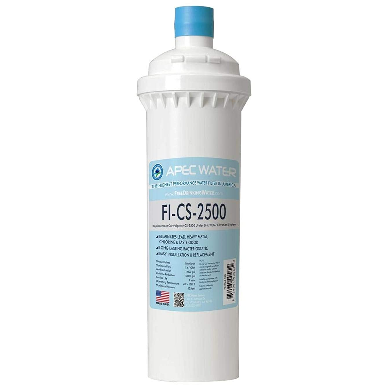 APEC FI-CS-2500 Replacement Filter for CS-2500 Water Filtration System
