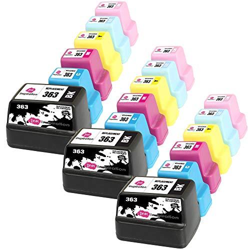 INK INSPIRATION Reemplazo para HP 363 Multipack 18 Cartuchos de Tinta Compatible con HP Photosmart C7280 C8180 C5180 C6180 C6280 C7180 3310 3210 3110 8250 D6160 D7160 D7260 D7460