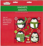Christmas and Winter Themed Glitter Refrigerator Magnets 2017 (Penguins)