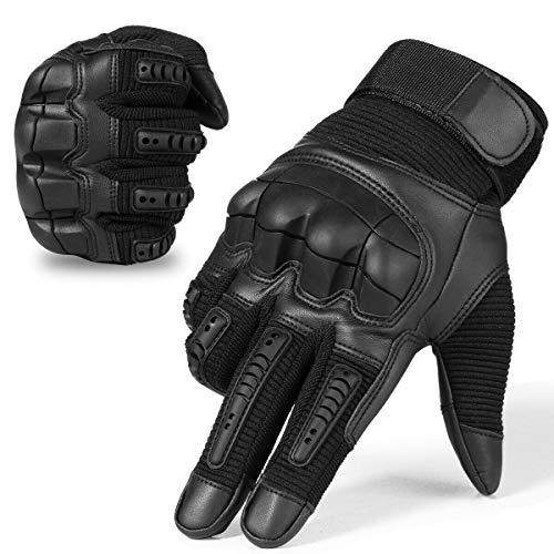 Xnuoyo Gomma Dura Knuckle Guanti da dito pieno Guanti di protezione Guanti touch screen per moto Ciclismo Caccia Arrampicata campeggio