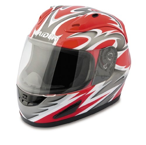 Raider Full Face Helmet (Red, XX-Large)