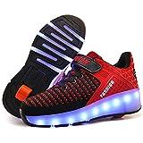 USB Ricaricabile Unisex 7 Colors Flashing Bambino LED Scarpe con Rotelle Automatiche Skate Multisport Running Sneaker Sportive Pattino per Bambini Ragazze e Ragazzi