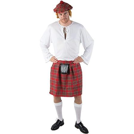 COSTUME DEGUISEMENT kilt écossais écossais rock avec fellteil