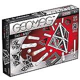 Geomag- Black & White Gioco di Costruzione con Sfere e Barrette, Colore Bianco/Nero, 68 Pezzi, 012