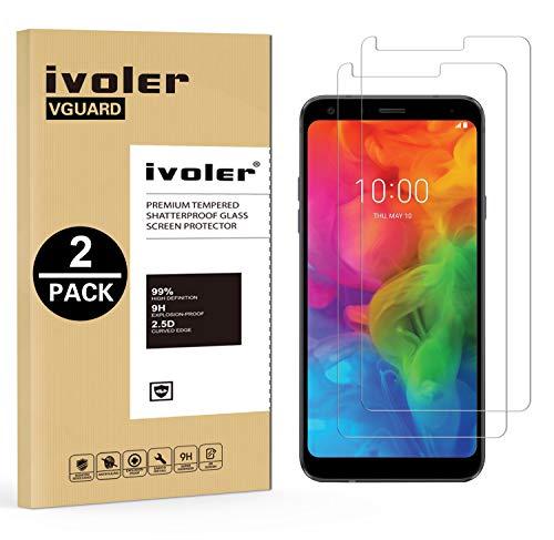 ivoler [2 Stücke] Panzerglas Schutzfolie für LG Q7 / LG Q7+ / LG Q7 Plus [9H Festigkeit] [Anti- Kratzer] [Bläschenfrei] [2.5D R&e Kante]
