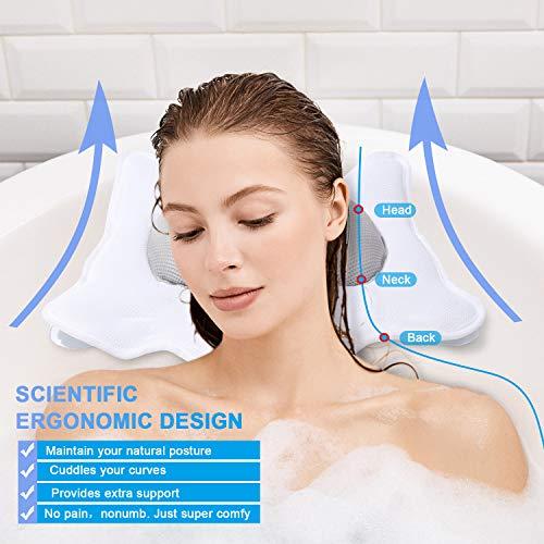 Bath Pillow for Tub Neck Shoulder