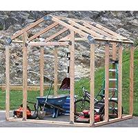 Shelter-It 7 x 8 Feet 3 Size Easy Assembly Bracket Framer Shed Kit