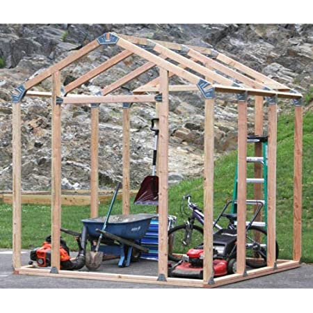 EZ Shed 3 Size Easy Assembly Bracket Framer 7' x 8' DIY Framing Kit, Peak Style