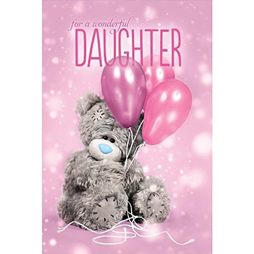 Me To You Tatty Teddy 3D Holographic Card Wonderful Daughter Birthday Card