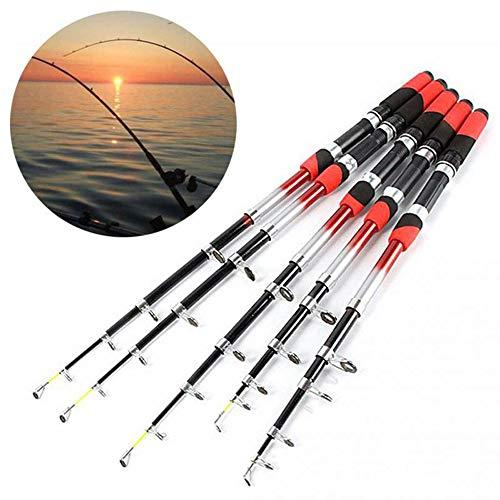 OVEA Caña De Pescar, 2,1M 2,4M 2,7M 3,0M 3,6M Portable De La Pesca Rod Telescópico, Pesca De Giro Rod De Viaje, De Fibra De Vidrio Trole,3.6M