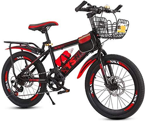 Vélo Enfant Vélos VTT for Les Étudiants De La Montagne, Haut-Match À Vitesse Variable Disco Enfants, Vélo 20 Pouces De A Partir À 22 Pouces des Garçons Et des Filles 6-13 Ans