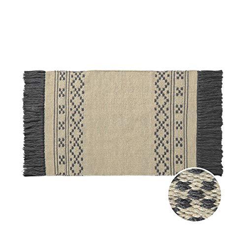 Butlers Good Loom Teppich Ethno mit Fransen L 90 x B 60cm