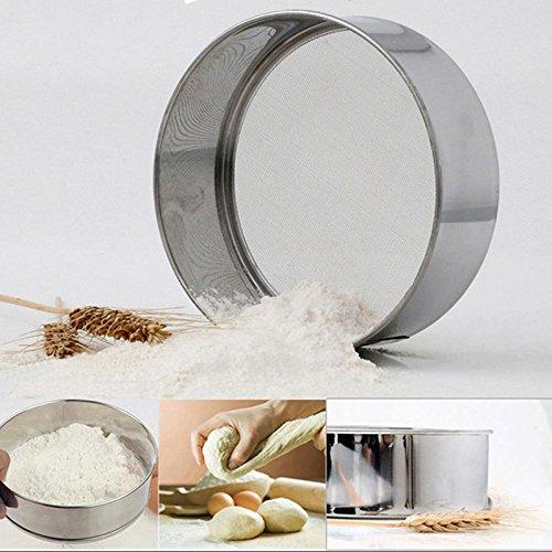 Neuf Productfine Maille en acier inoxydable Farine Tamisage Tamis Tamis Passoire ustensile de cuisine