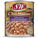 S & W, Chili Makin's (Just Add Meat) Pinto Chili Beans, Sauce & Seasoning, 29 Ounce Can (Pack Of 12)