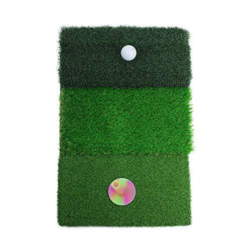 Esterilla de Golf portátil en para Entrenamiento Estera de golf, alfombra de entrenamiento de golf, fairway de tri-césped áspero y conducción, durable golf golpeando mate hierba interior al aire libre