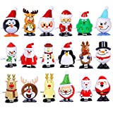 Max Fun 18 Pcs Christmas Stocking Stuffers Wind Up Toys Assortment for Christmas Party Favors Goody Bag Filler (Christmas)