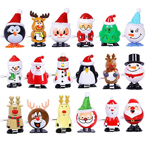 Max Fun 18 Pack Christmas Wind Up Toys Assortment for Christmas Party Favors Goody Bag Filler (Christmas)