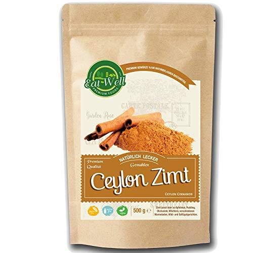 Ceylon Zimt ( 500g )   Zimtpulver gemahlen   100{921a8580ed0be23c73f056eb05da06350e8521bd180d722dca358cb793d21d7d} echtes natürlich ohne Zusätze   Rohe & Rein - natürliche   Eat Well Premium Foods